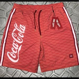 New KITH X Coca Cola Shorts Tilden Color Red